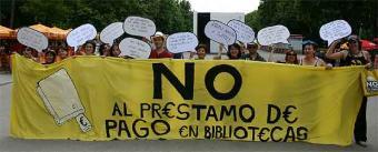 Campaña NO al Préstamo de pago en Bibliotecas